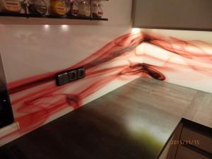 Sklodekor kuchyňská linka
